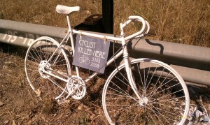 Picture is not mine but this is the exact bike and sign I saw. <a href=