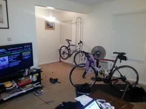Bike Trainer and Cupcake Wars. #winning