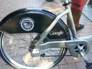 Co branded Hubway Bikes