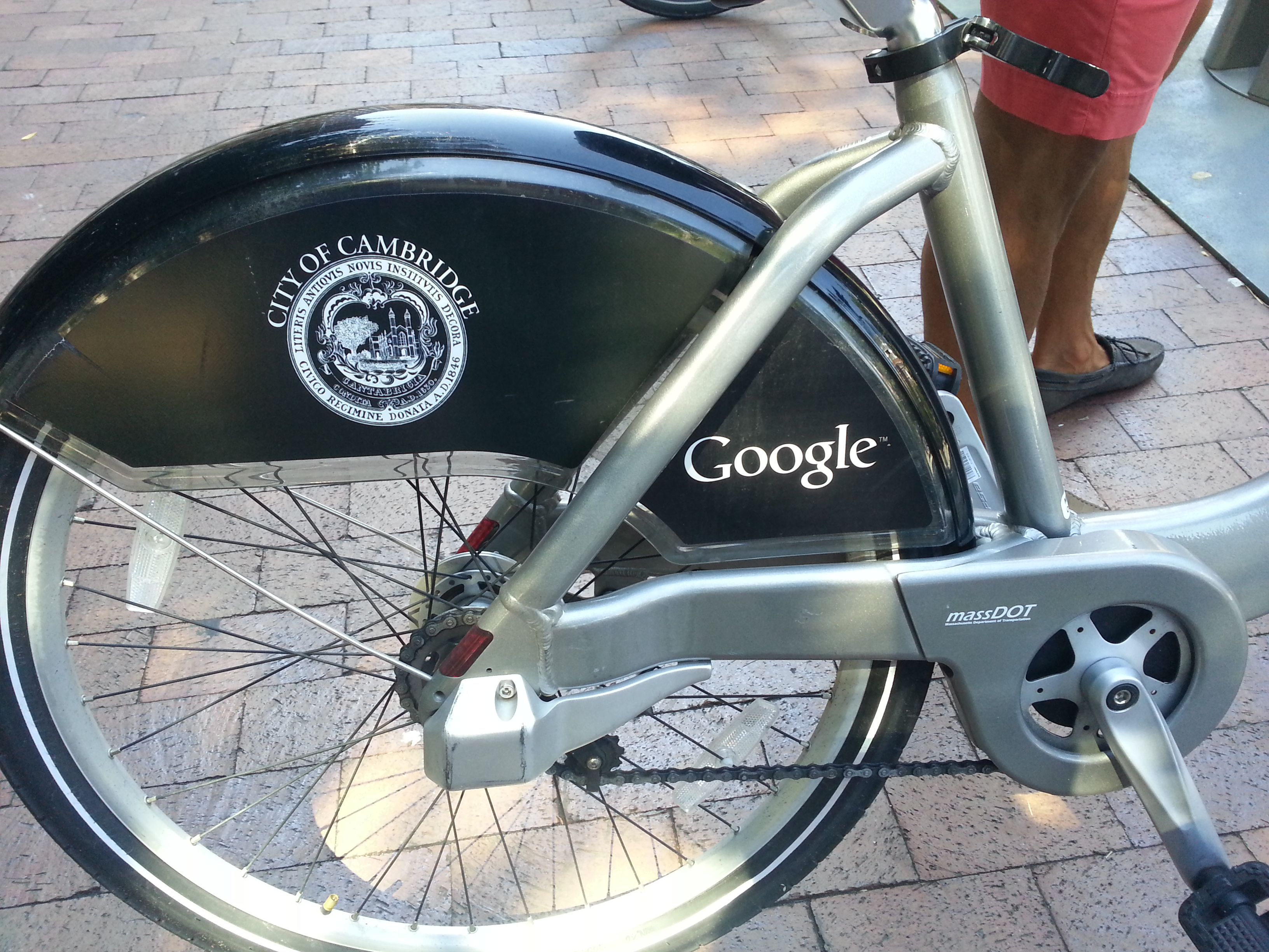 Co branded Hubway Bikes