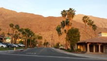 "Gorgeous, ""fried by the sun"" mountainside of Palm Springs"