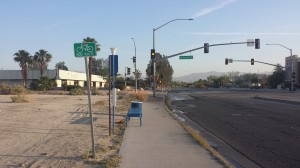 WRONG WAY, PALM SPRINGS. And this is a SIDEWALK, NOT A BIKE PATH!!!!